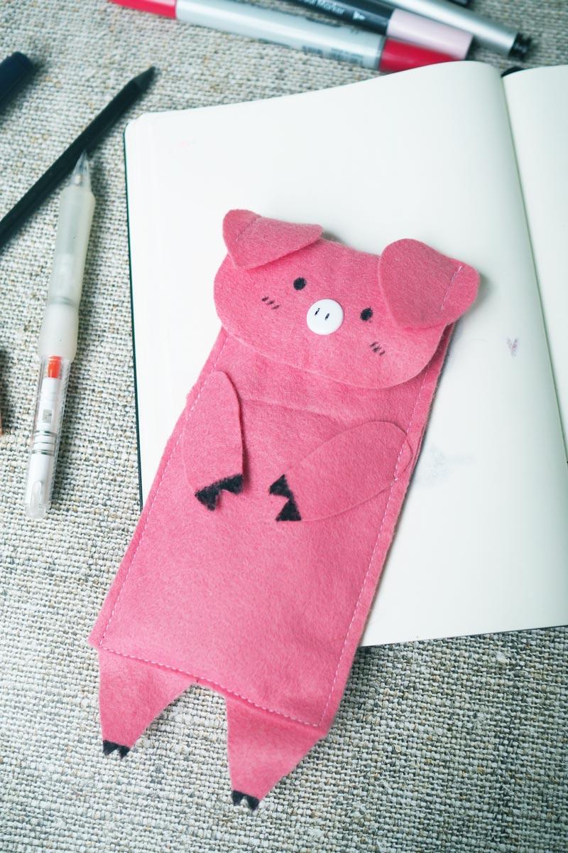 Schweinisches Mäppchen aus Filz