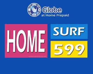 Globe Homesurf 599 – 40GB of Data for 15 Days