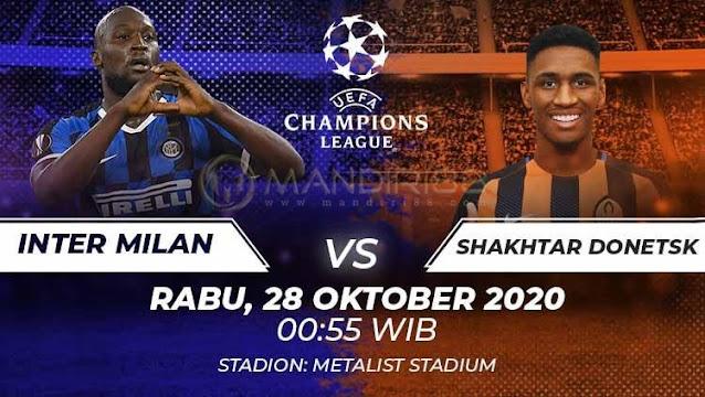 Prediksi Shaktar Donetsk Vs Inter Milan, Rabu 28 Oktober 2020 Pukul 00.55 WIB