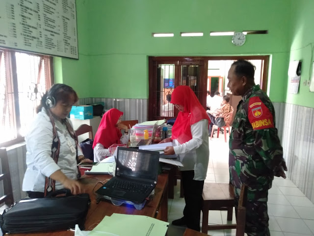Babinsa Wonosari Dampingi Pengecekan Tim Inspektorat Kabupaten Klaten