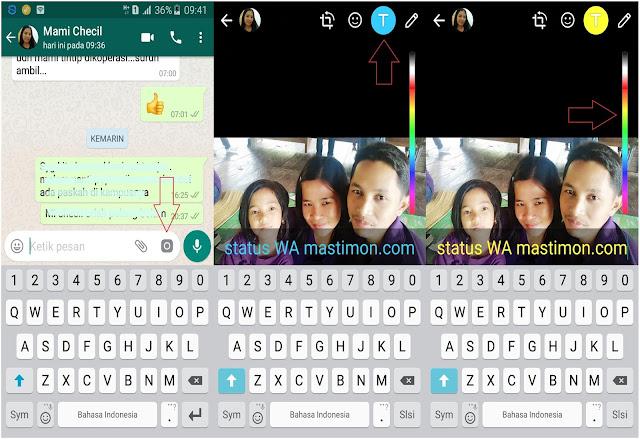 Cara mengganti FONT pada status Whatsapp