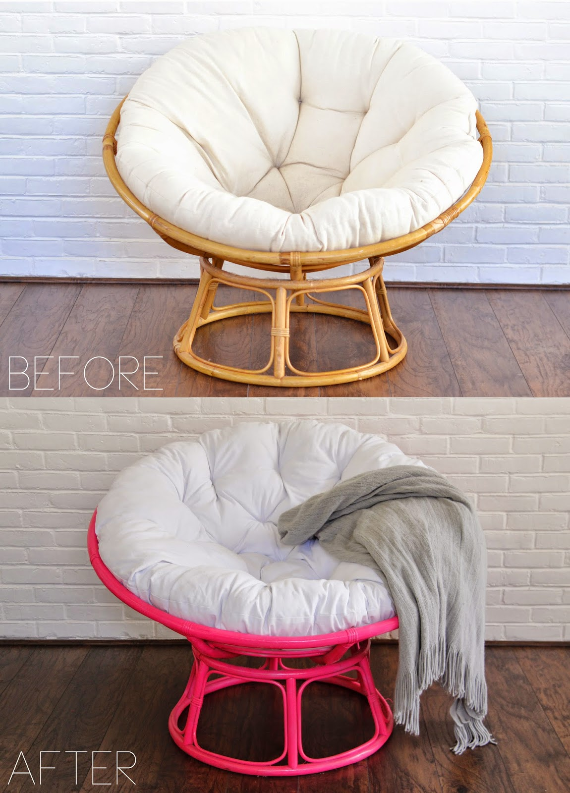 so fancy before  after papasan chair