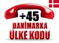 +45 Danimarka ülke telefon kodu