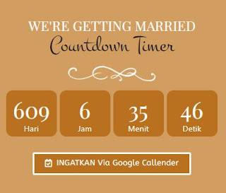 countdown time undangan digital