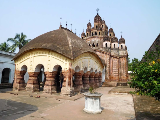 The Lalaji Temple dedicated to Radha-Krishna, Kalna Rajbari Temple complex, West Bengal