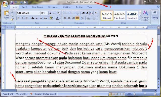 Bagaimana Cara Membuat Dokumen Sederhana Menggunakan Ms Word #PieCara