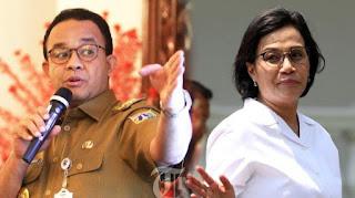 Pendapatan Negara Anjlok, Sri Mulyani Buang Badan, Salahkan PSBB Lanjutan Anies Baswedan