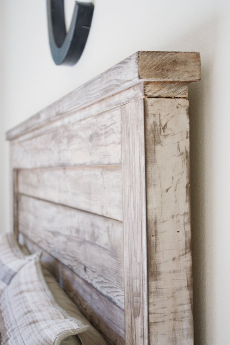 White // chippy // rustic headboard