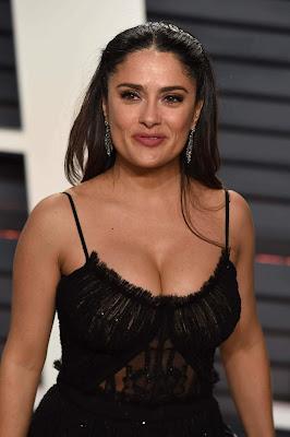 Salma hayek hair color new photos 2019