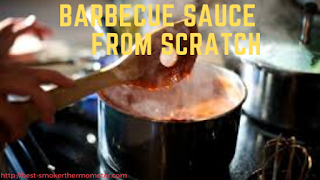 Homemade barbecue sauce from scratch