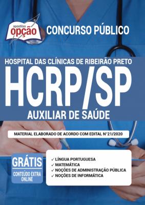 A Apostila HCRP-SP em PDF - Auxiliar de Saúde - 2020 foi elaborada de acordo com o Edital 021/2020 do concurso, por professores especializados em cada matéria e com larga experiência em concursos.