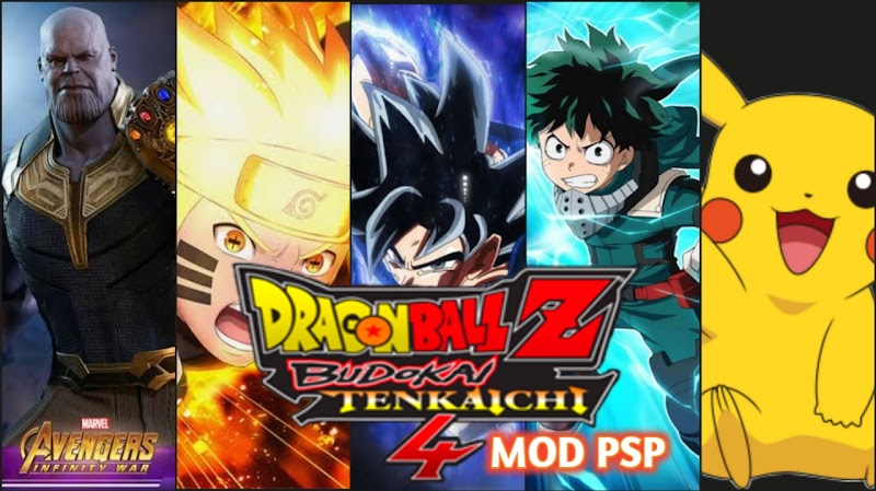 DBZ TTT Anime Crossover MOD BT4 Android PSP ISO With Permanent Menu