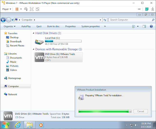 persiapan install tools vmware
