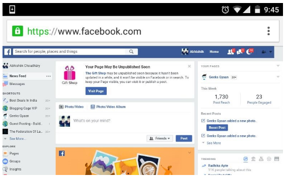 Login desktop ansicht facebook Facebook on
