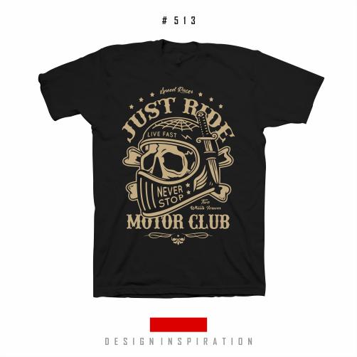 Just Rider Never Stop - Desain Kaos Rider #513