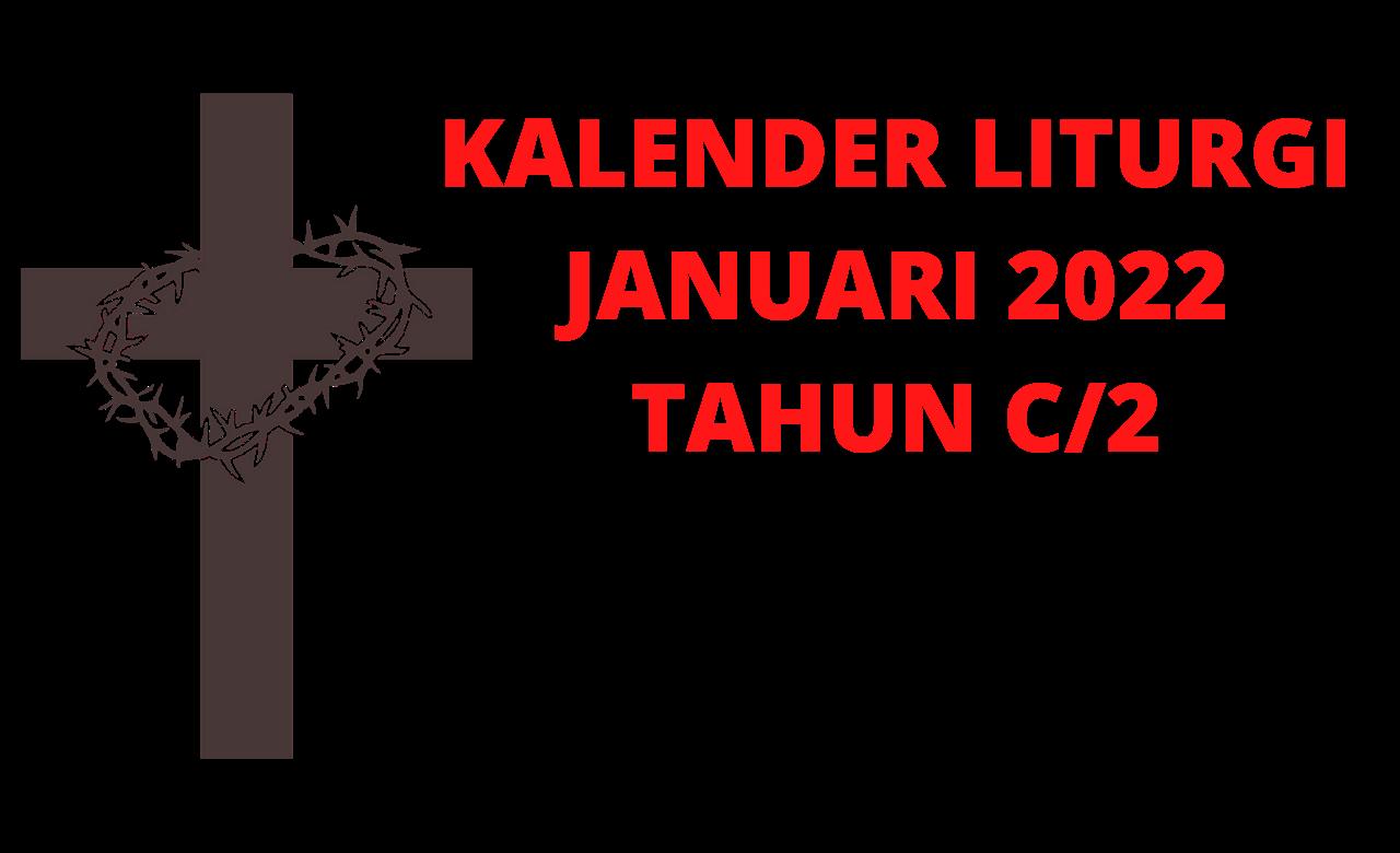 Kalender, Liturgi, Januari, 2022, Kalender Liturgi, Januari 2022, Katolik, Kalender Ekaristi
