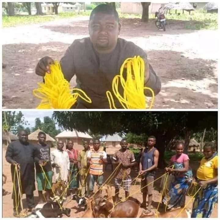 Benue Politician, Daniel Ukpera, Donates Ropes To His Community Members To Tie Their Goats (Photos) #Arewapublisize