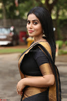 Poorna in Cute Backless Choli Saree Stunning Beauty at Avantika Movie platinum Disc Function ~  Exclusive 067.JPG