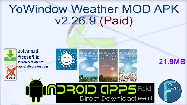 YoWindow Weather MOD APK v2.26.9 (Paid)