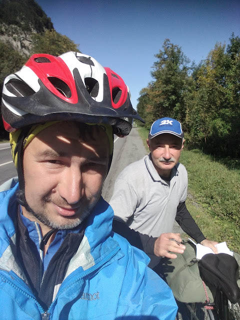 встреча велотуриста