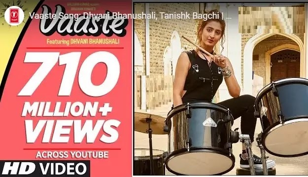 वास्‍ते जां भी दूं  Vaaste Lyrics in hindi (English)-Dhvani Bhanushali