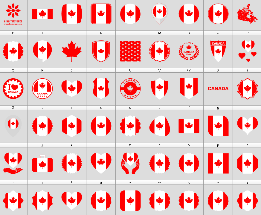 Download Font #Canada Color font ttf otf 53 icons elharrak fonts #socialmedia #websites #designer #vector #symbol #illustrator #social #photoshop #design #designers #font #fonts #logos #logo #icon #icons #flags #web #canadian #flag #America #dingbats #world #colors #color #website #formas #american