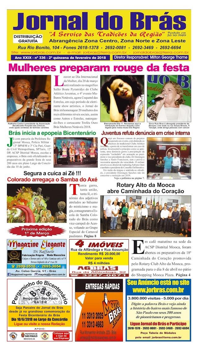 Destaques da Ed. 336 - Jornal do Brás
