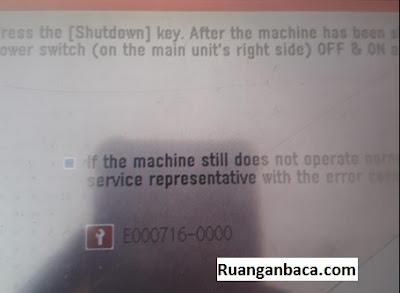 Solusi Fotocopy canon ir4570 Error E716 / E000716
