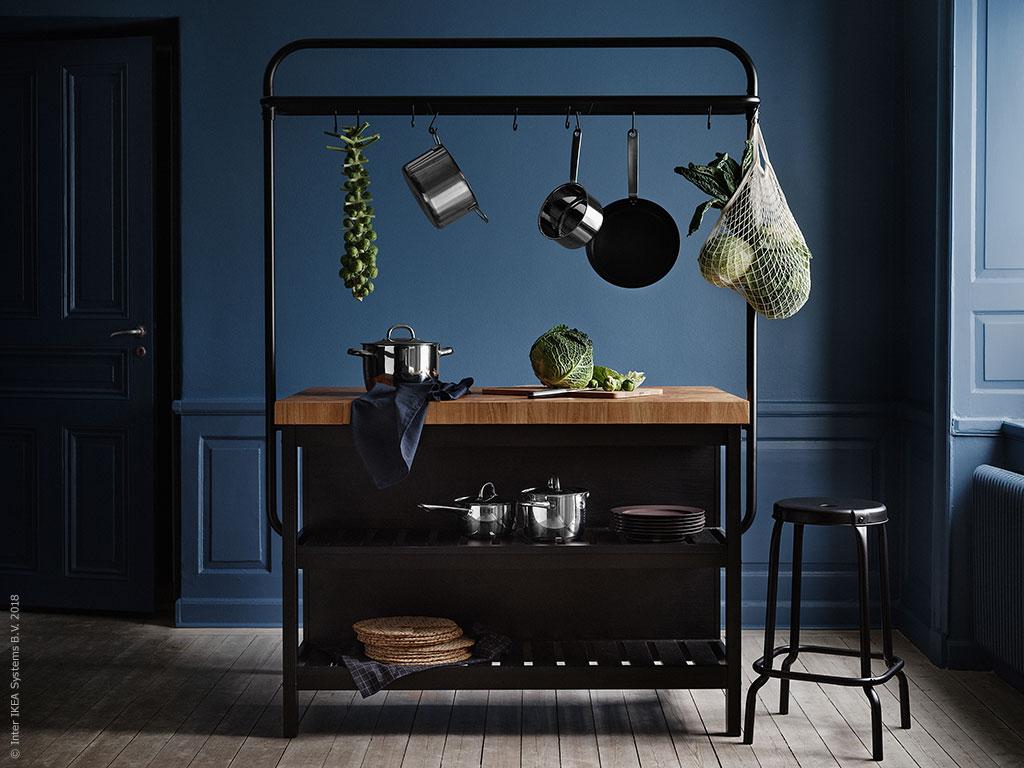 10 Ikea Holiday Kitchens Ideas To Steal Poppytalk Vadholma kitchen island, black, oak, wid. 10 ikea holiday kitchens ideas to steal