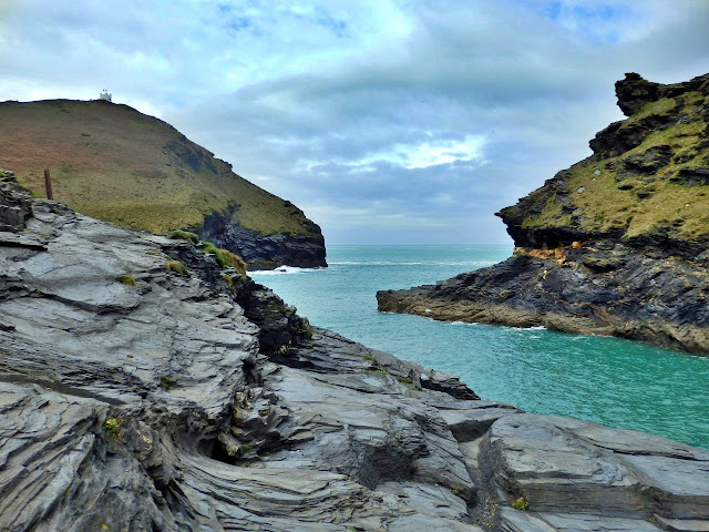 Entrance to Boscastle harbour, Cornwall