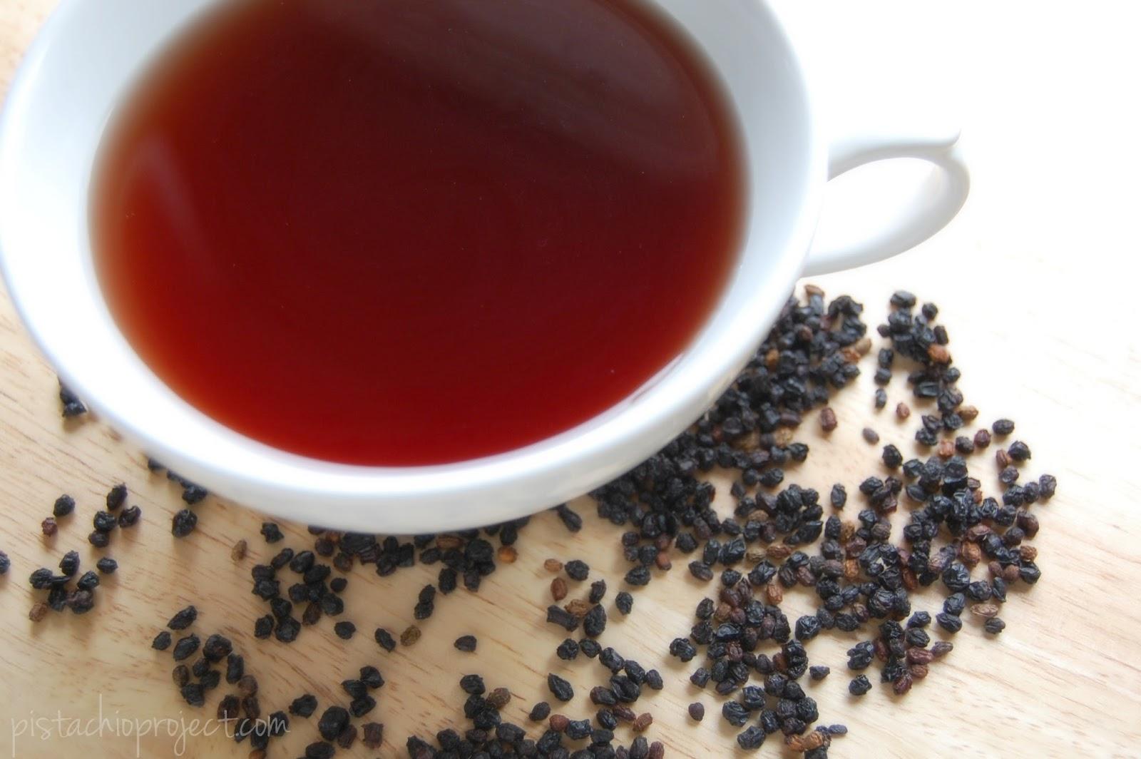 The Pistachio Project: Reusing Elderberries to Make Elderberry Tea