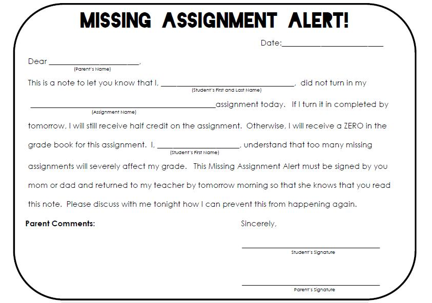 The Real Teachr: Missing Assignments