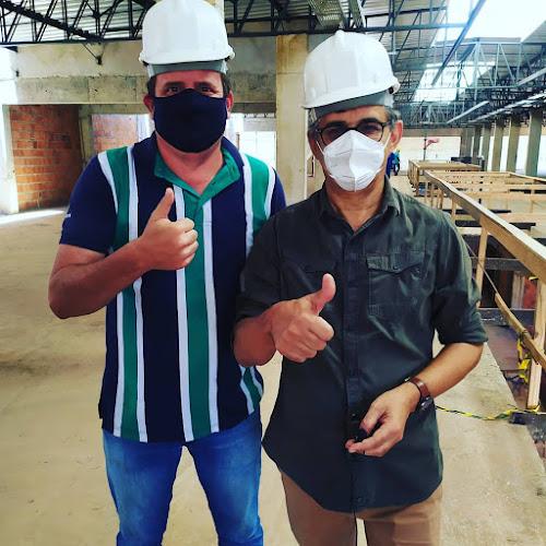 responsável pelo Shopping Juliano Pedrosa e prefeito Jailson Fausto