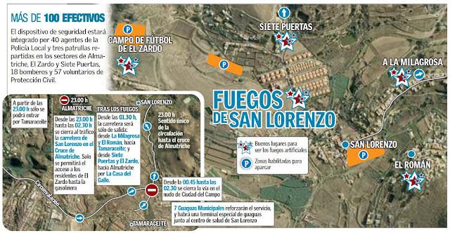 Se confirma que no se suspenden los Fuegos de San Lorenzo 2016