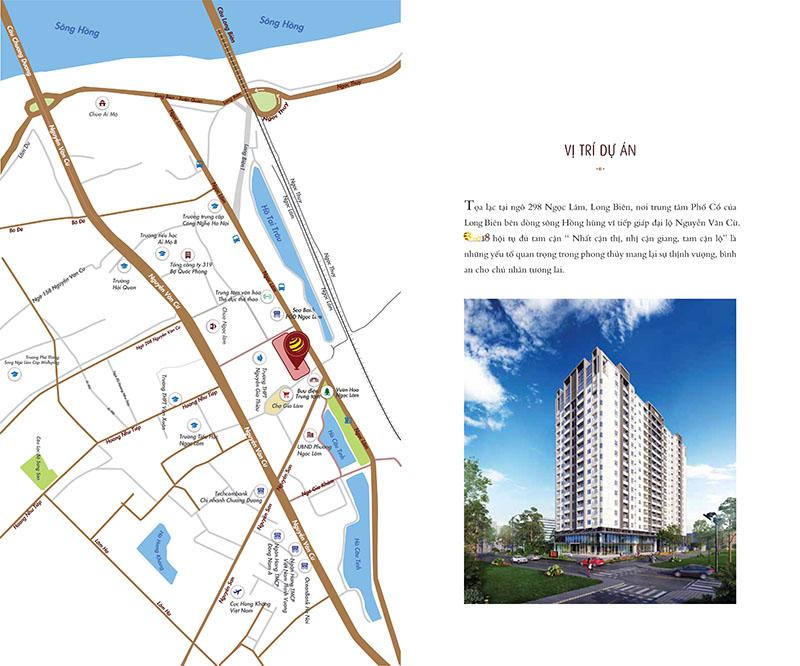 Vị trí chung cư One18 Ngọc Lâm