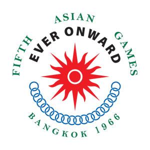 Logo Asian Games Ke 5 Tahun 1966 di Bangkok, Thailand