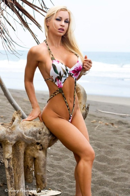 On The Beach With Jenny Poussin