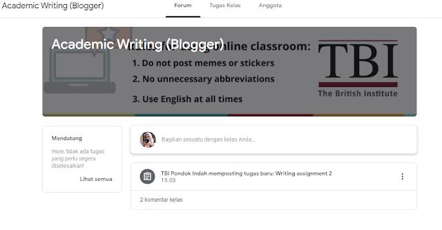 Pengalaman Menggunakan Google Classroom