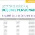 LISTADO DE PERSONAL DOCENTE PENSIONADO A PARTIR DEL 1 DE OCTUBRE DE 2019