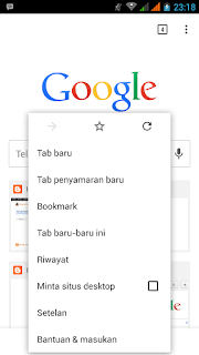 Fungsi tab Penyamaran incognito mode chrome android