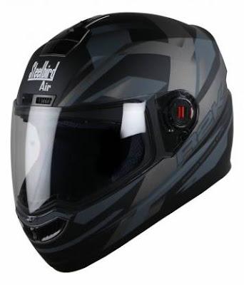 Steelbird SBA-1 R2K Motorbike Helmet  Matt Black/Grey with Plain Visor