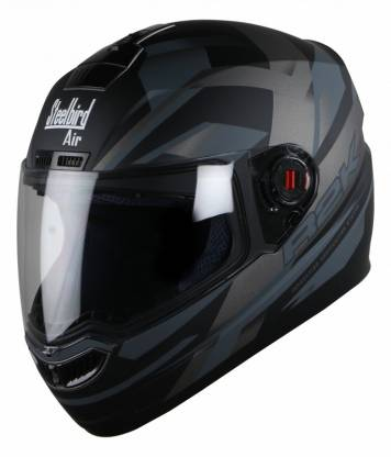Steelbird SBA-1 R2K Motorbike Helmet Matt Black/Grey with Plain Visor