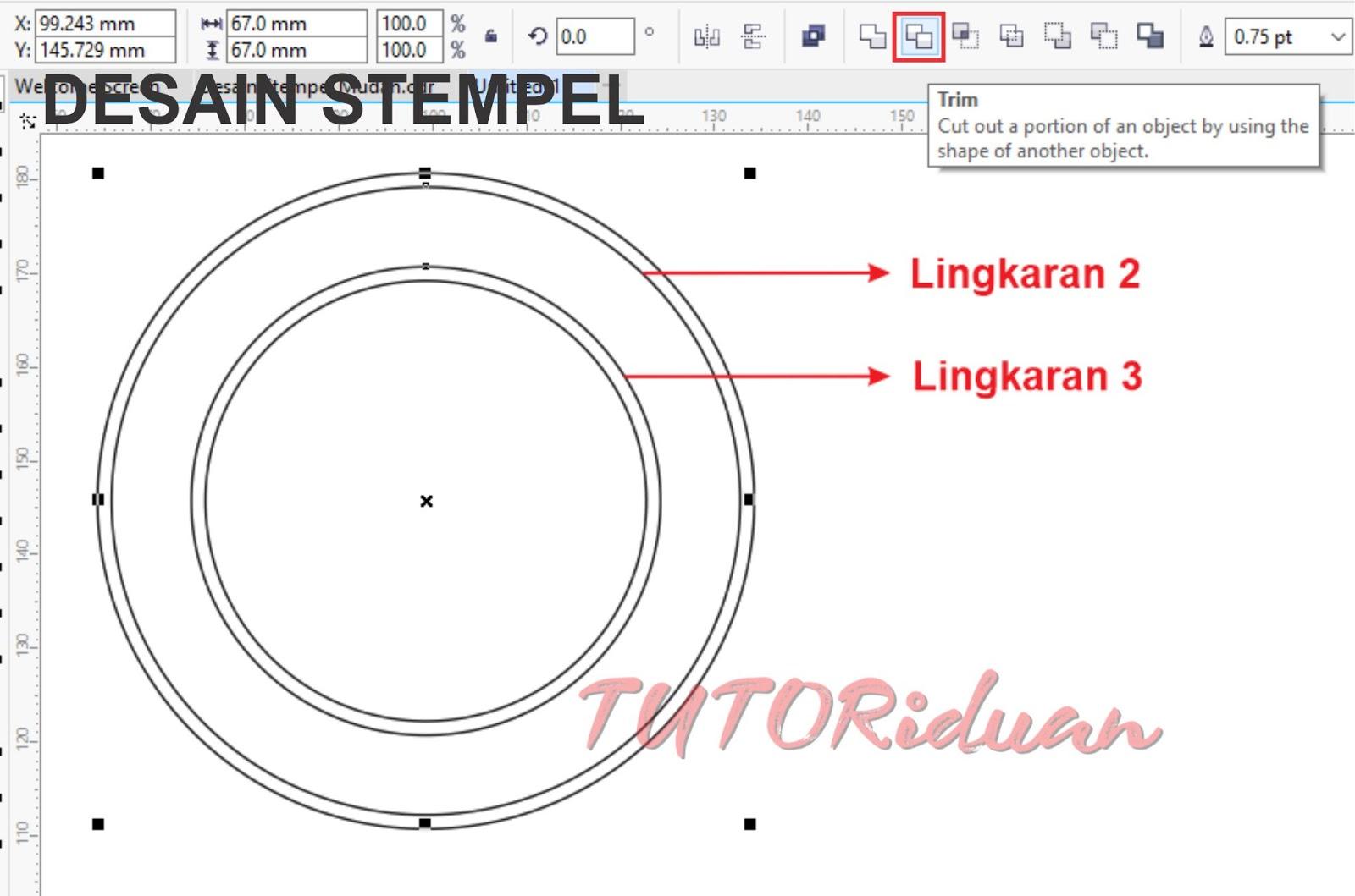 Cara Mudah Membuat Stempel Di Coreldraw Tutoriduan Com