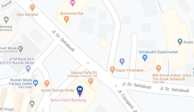 Map Letak Hotel Belviu Bandung