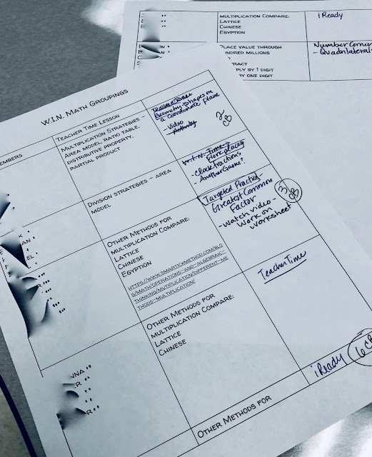 Organizing groups for differentiation in the classroom can be daunting.  Literacy Loves Company shares how she manages W.I.N. math stations and creates small groups in her 5th grade math class.