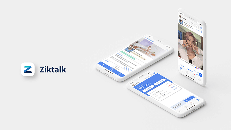 Ziktalk is a blockchain social network