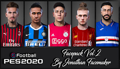 PES 2020 Facepack Vol 2 by Jonathan Facemaker