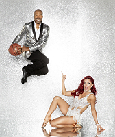 Derek Fisher with Sharna Burgess