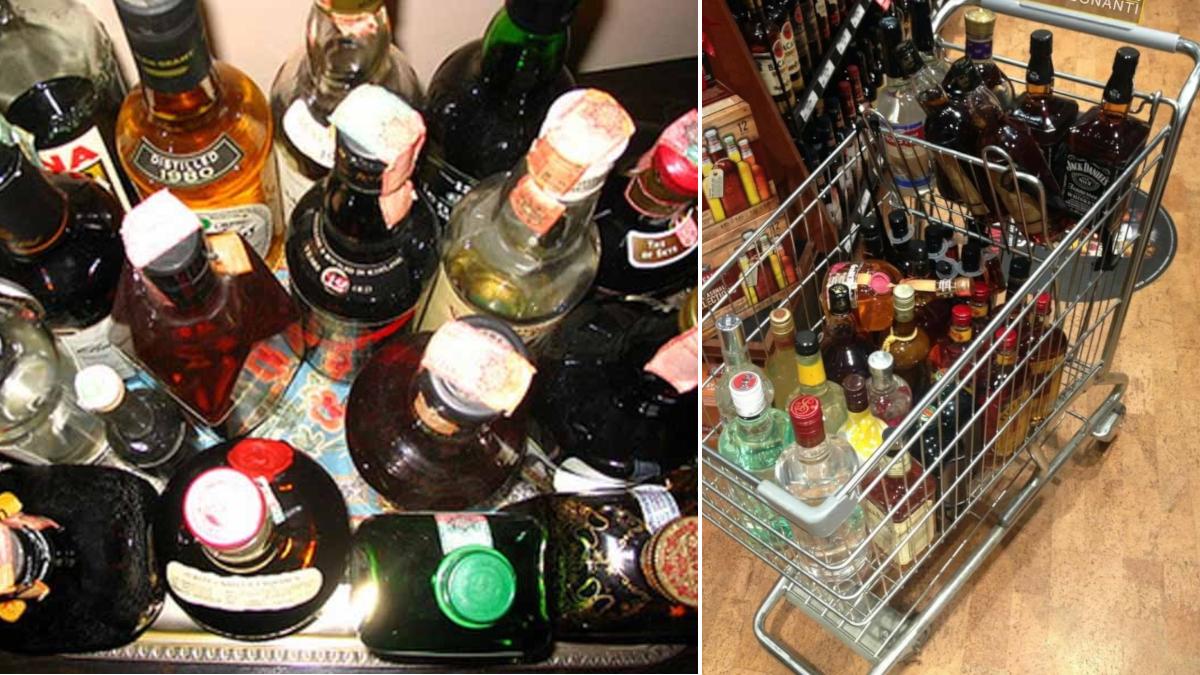 Ladri di alcolici supermercato Decò Polizia