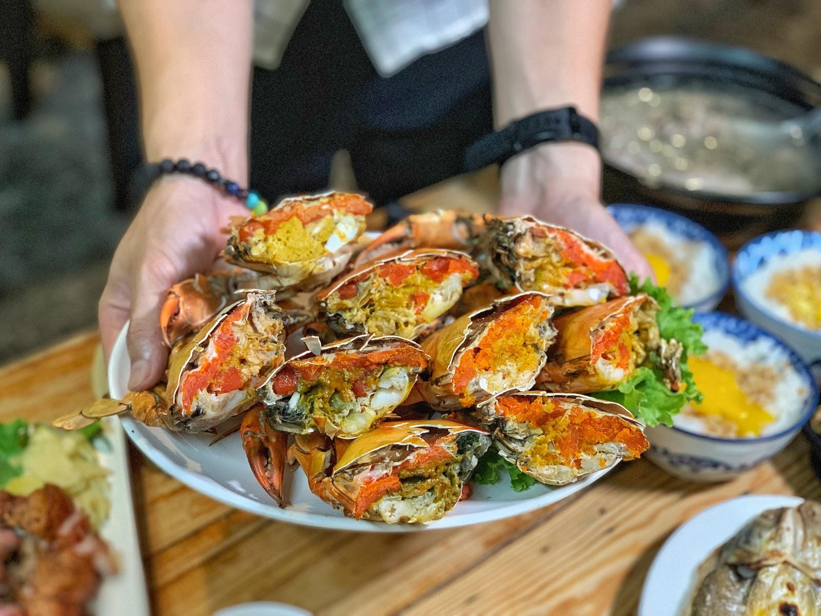台南東區美食【府城騷烤家】炭烤紅蟳螃蟹